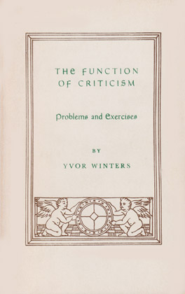 Cover of 'The  Function of Criticism'