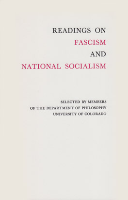 Cover of 'Readings on Fascism and National Socialism'