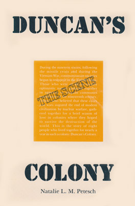 Cover of 'Duncan's Colony'
