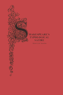 Cover of 'Shakespeare's Typological Satire'