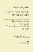 Cover of Ontology of the Work of Art