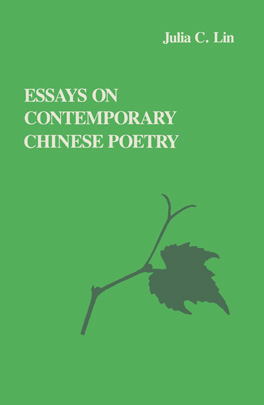 Cover of 'Essays on Contemporary Chinese Poetry'