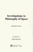 Cover of 'Investigations in Philosophy of Space'