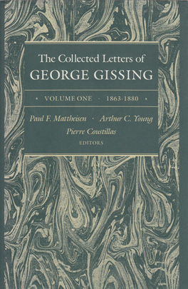 Cover of 'The  Collected Letters of George Gissing Volume 1'