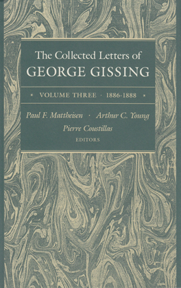 Cover of 'The Collected Letters of George Gissing Volume 3'