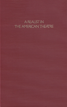 Cover of 'A Realist in the American Theatre'