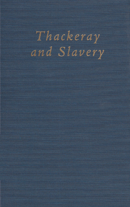 Cover of 'Thackeray and Slavery'