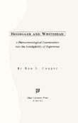 Cover of 'Heidegger and Whitehead'