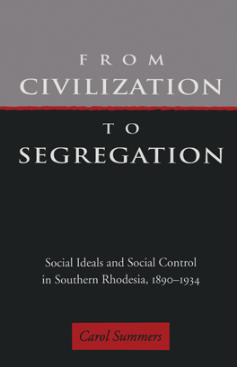 Cover of 'From Civilization to Segregation'