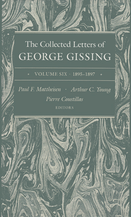 Cover of 'The Collected Letters of George Gissing Volume 6'