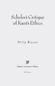 Cover of Scheler's Critique of Kant's Ethics