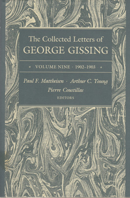 Cover of 'The  Collected Letters of George Gissing Volume 9'
