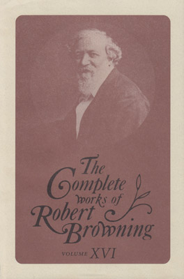 Cover of The Complete Works of Robert Browning, Volume XVI
