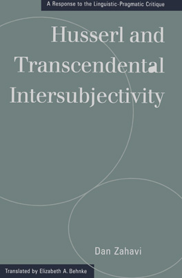 Cover of Husserl and Transcendental Intersubjectivity