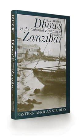Cover of 'Dhows and the Colonial Economy of Zanzibar, 1860-1970'