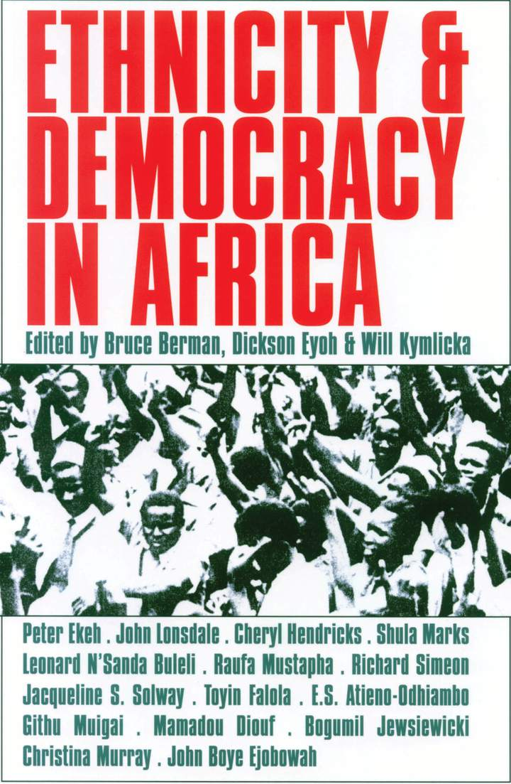 Cover of 'Ethnicity and Democracy in Africa'