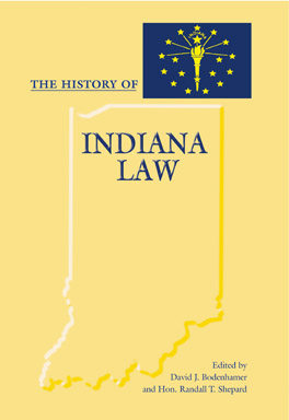 Cover of The History of Indiana Law