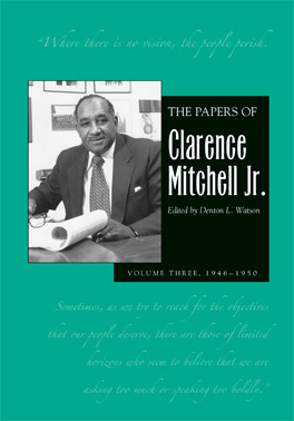 Cover of 'Papers of Clarence Mitchell Jr., Vol III'
