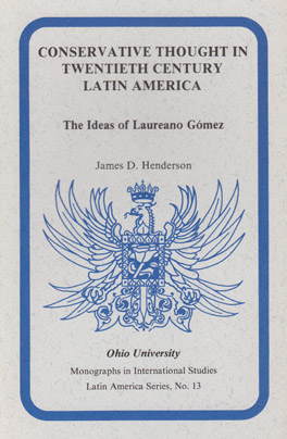 Cover of 'Conservative Thought in Twentieth Century Latin America'