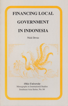 Cover of 'Financing Local Government in Indonesia'