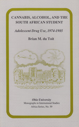 Cover of 'Cannabis, Alcohol, and the South African Student'