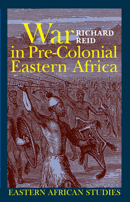 Cover of 'War in Pre-Colonial Eastern Africa'