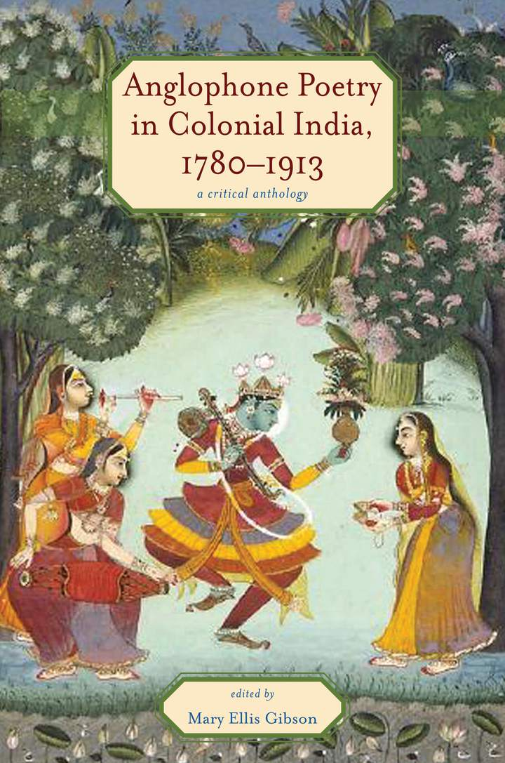 Cover of 'Anglophone Poetry in Colonial India, 1780–1913'