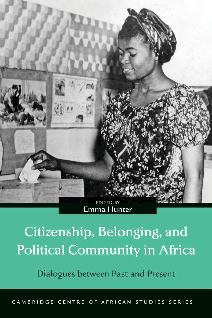 Cover of Citizenship, Belonging, and Political Community in Africa
