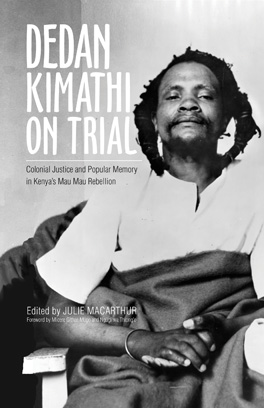 Cover of Dedan Kimathi on Trial