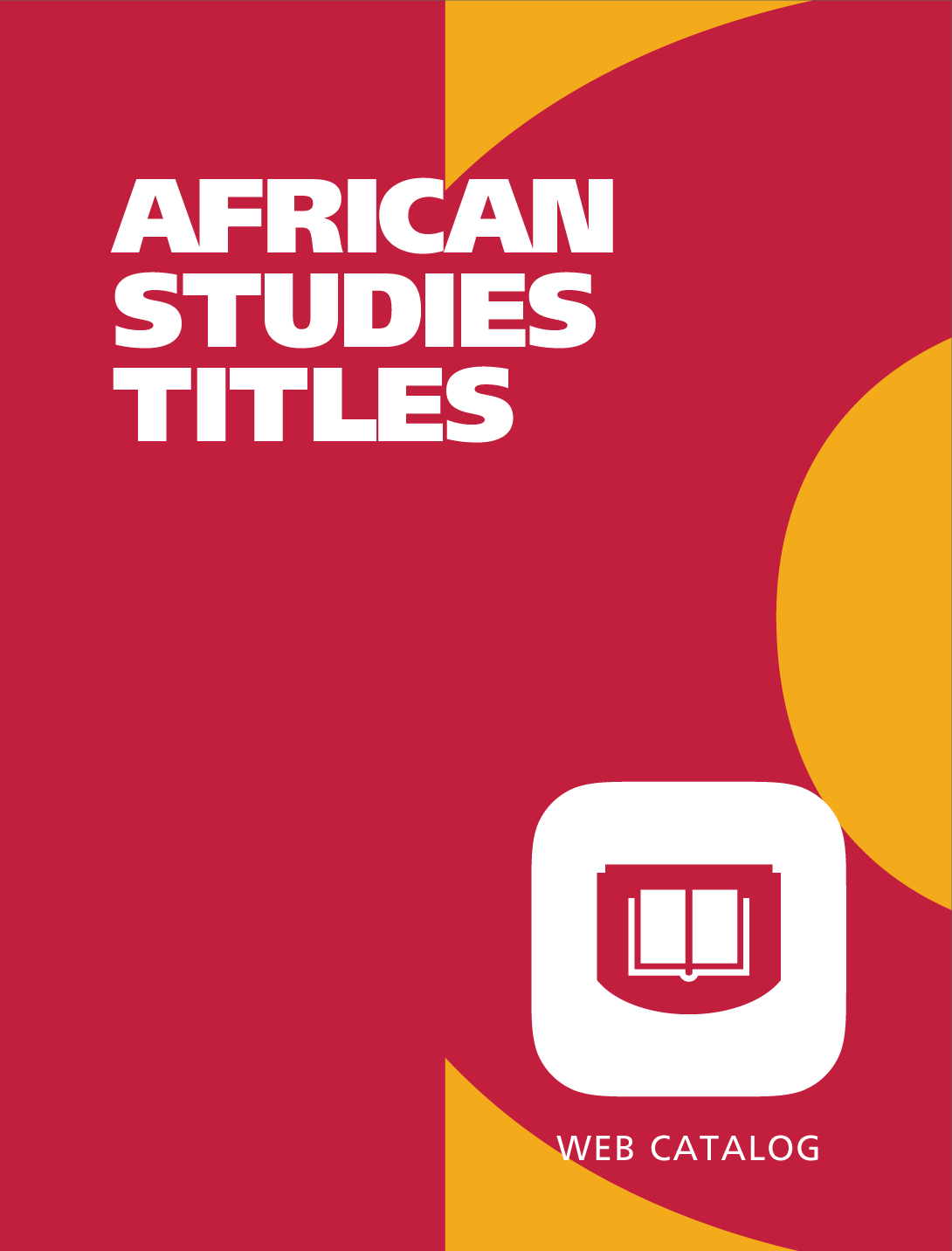 African Studies Titles web catalog